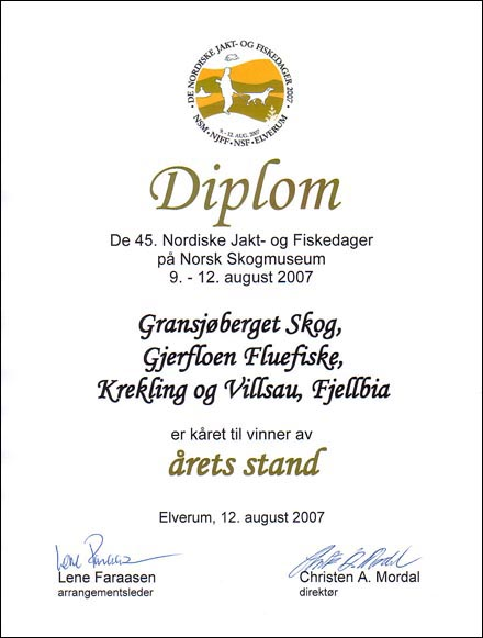 Diploma ,THE STAND OF THE YEAR